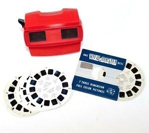 Sawyer's View-Master GAF Model J Red With Reels 6801 6802 6803 2305 Vintage H008