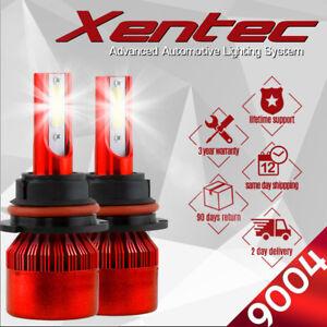 XENTEC LED HID Headlight kit 9004 HB1 6000K for 1985-1999 Volkswagen Golf