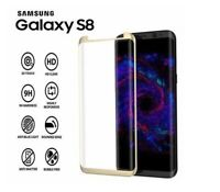 Brand New  9H 5D Tempered Glass Screen Protector for Samsung Galaxy S8 Gold