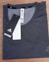 Adidas Performance Ess Climalite Tech Tee Short Sleeve Mens T-Shirt Grey 2XL