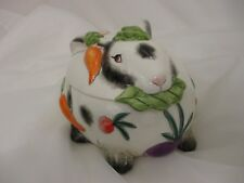 Fitz & Floyd Spotted Rabbit Bunny Lidded Box Easter