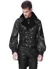 Punk Rave Mens Vest Waistcoat Tailcoat Black Velvet Gothic Steampunk Victorian