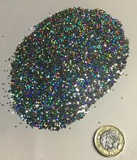 1kg - Bright Silver Holographic Glitter 3 Sizes 008 015 040 Stunning Decoration