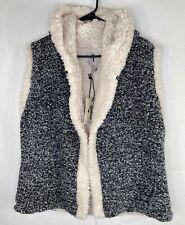Rain & Rose women's Open Sweater Hooded Vest Size Large