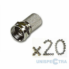 20 Pack F Plug Connector Sky Satellite  Twist On Type - High Quality