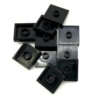 Lego 10 New Black Plate Modified 2 x 2 Groove 1 Stud in Center Pieces