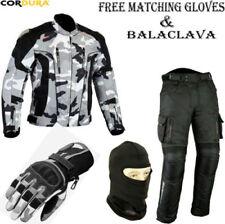 Combinaisons de motocyclette gris textile pour homme