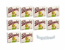 "Bambu Regular 1-1/4"" Rolling Paper, Pack of 10 Booklets"