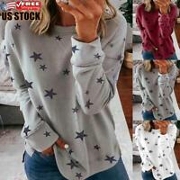 Women Casual Sweatshirt Ladies Loose Printed Pullover Jumper T Shirt Tops Blouse