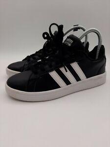 Adidas Women's Neo Cloudfoam Advantage Sneaker Size 6.5 Black/White 3 Stripe