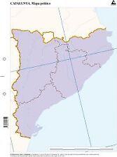 Paq/50 mapas catalunya politico mudos. ENVÍO URGENTE (ESPAÑA)