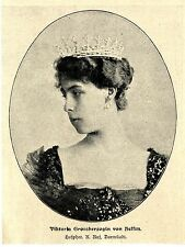 Viktoria granduchessa di Assia * hofphot. K. reputazione Darmstadt * immagine documento 1901