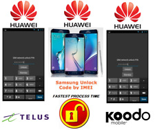 TELUS / KOODO UNLOCK CODE FOR HUAWEI PHONE ANY CANADIAN MODEL