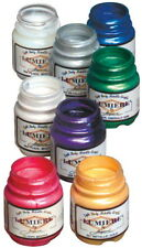 Jacquard Non-Toxic Lumiere Paint Set, 2.25 oz Bottle, Assorted Metallic and P.
