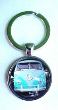 Vintage Blue Volkswagen Camper Retro 1960's Vw Van Bus Keychain / Pendant