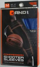 New And1 Basketball Compression Shooter Sleeves Pair Size Medium Royal Blue