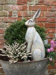Fabulous Large Realistic LookingSitting Down  Hare Ornament Figurene Sculpture