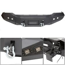 For 2007-2013 Toyota Tundra Front Bumper Steel Winch Ready w/ D Rings & Lights
