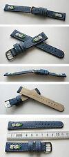 ECHTLEDER TRACHTENUHRBAND Typ: Michel mit Edelweiß 18 mm BLAU auch für Jordi Uhr