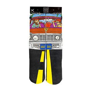 ODD SOX Men's Crew Socks - Low Rider (Cheech & Chong)-(UK 6-12 | EU 40-46)