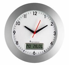 Große Funk Wanduhr, Funkwanduhr, Uhr, Bürouhr, Mit Datum 30cm Neu OVP!