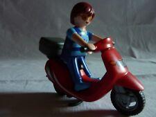 PLAYMOBIL personnage véhicule transport moto ville maison papa sur son scooter