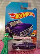 '67 CHEVY C10 truck #158✰purple; 5sp✰HW TRUCKS✰2017 i Hot Wheels case H