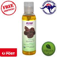 Now Foods Solutions - 100% Pure Certified Organic Jojoba Oil - 118 ml - VEGAN