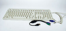 Packard Bell Keyboard Model 5130 Vintage Mechanical 90's White with USB adapter