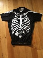 Foska Skeleton Cycling Jersey Bike Medium Men's Mtb Road Short Sleeve