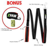 Dog Leash 4ft Long Heavy Duty Nylon Double Padded Handle BLACK