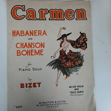 "Piano solo Bizet ""Carmen"" Habanera + chanson BOHEME"