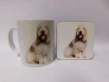 Basset Griffon Dog Mug and Coaster Set