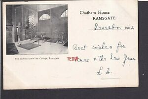 Kent - Ramsgate Chatham House, The College The Gymnasium 1904 - Postcard