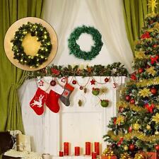 HOMCOM Guirnalda Decorativa Corona de Navidad Puerta Ventana 50 Luces LED Φ55cm