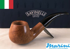 Smoking pipes pipe Savinelli 645 KS curve briar natural waxed wood made in Italy