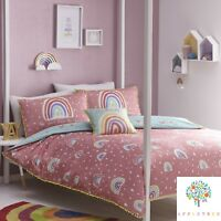 Appletree RAINBOW POM Multicolour Girls 100% Cotton Duvet Cover Set