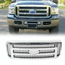 Chrome Grille For 2005 2006 2007 Ford Super Duty F250 F350 F450 F550