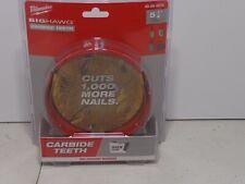Milwaukee 49 56 9270 5 14 Big Hawg Hole Cutter Carbide Teeth New