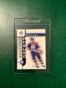 2001-2002 Upper Deck SP Authentic #101 Wayne Gretzky All-Time Greats 800/3500 🏒