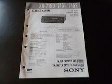 Original Service Manual Schaltplan   Sony XR-7150/7151/7152