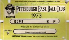 1973 Pass Ticket Pittsburgh Pirates Opening Day Roberto Clemente Uniform Retire