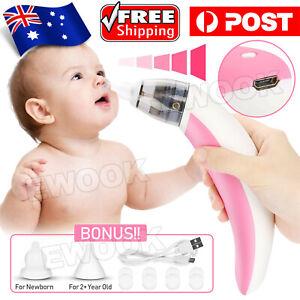 Electric Baby Nasal Aspirator Nose Cleaner Snot Sucker Nostril Safe Hygienic AU