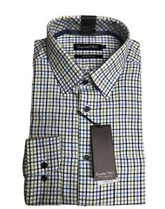 100% BRUSHED COTTON MOSS CHECK WARM HANDLE COUNTRY HUNTING SHIRT BY DOUBLE TWO