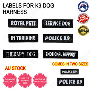 Labels for K9 Dog Harness Patch Patches Collar Vest Working Duty Name Customise
