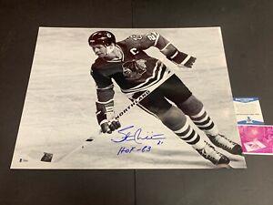 Stan Mikita Chicago Blackhawks Autographed Signed 16x20 Beckett COA HOF 83
