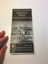 1977 California Desert Midway Well Conservation Area Map
