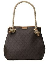 NEW Michael Kors MK Signature Maritime Large Beach BROWN Tote~MSRP$348