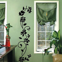 Wall Mural Sticker Black Flower Vine Vinyl Art Decals Paper Home Fridge Decor