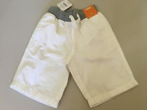 NWT Gymboree Boy shorts Pull on Shorts White Toddler and Kids sizes